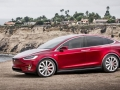 Tesla Model X front red
