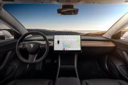 2018 Tesla Model 3 Dashboard Interior 250x166
